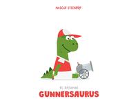 Mascot Stickers - Gunnersaurus