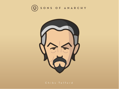 Faces Collection Vol. 01 - Sons of Anarchy - Chibs Telford head illustration logo 2d vector tv series telford chibs sons samcro character anarchy