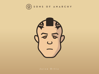 Faces Collection Vol. 01 - Sons of Anarchy - Juice Ortiz head illustration logo 2d vector theo rossi tv series sons samcro juice character anarchy
