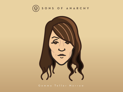 Faces Collection Vol. 01 - Sons of Anarchy - Gemma Teller vector tv series sons samcro logo illustration head character anarchy 2d