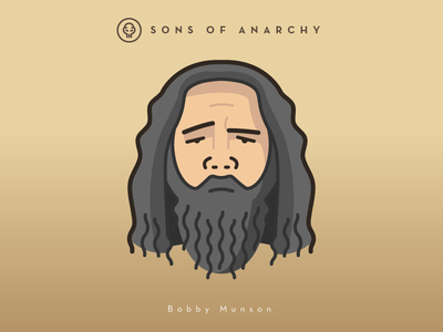 Faces Collection Vol. 01 - Sons of Anarchy - Bobby Munson vector tv series sons samcro logo illustration head character anarchy 2d