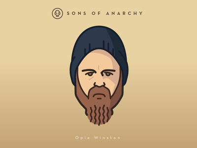 Faces Collection Vol. 01 - Sons of Anarchy - Opie Winston vector tv series sons samcro logo illustration face head character anarchy 2d