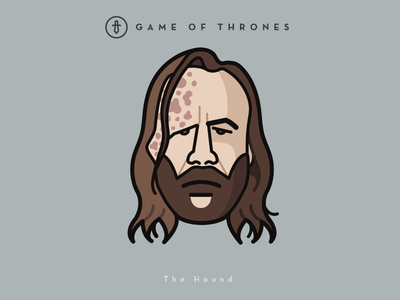 Faces Collection Vol. 02 - Game of Thrones - The Hound hound vector tv series logo lannister king illustration icon game of thrones the hound 3d 2d
