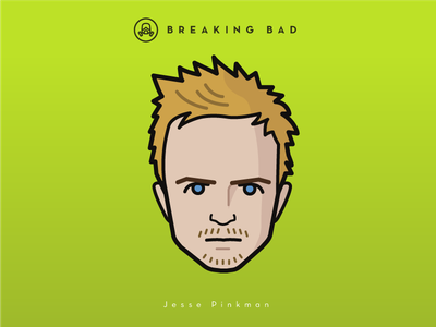 Faces Collection Vol. 04 - Breaking Bad - Jesse Pinkman pinkman vector tv serie breaking bad portrait netflix movie logo illustration icon flat characters