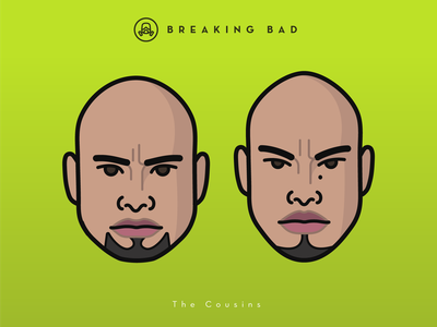 Faces Collection Vol. 04 - Breaking Bad - The Cousin friends telegram head portrait game of thrones game movie characters stickers breakingbad flat logo illustration tv series netflix 2d icon vector