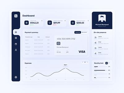 Finance Management - Dashboard finance ux blue design u