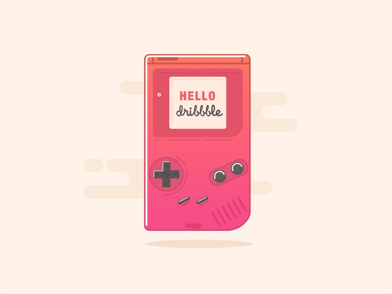 Hello Dribbble! dribbble gameboy hello shot debut