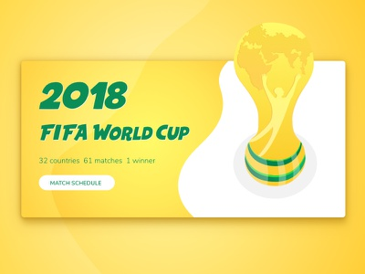 World Cup 2018! design green yellow illustration football soccer world cup 2018