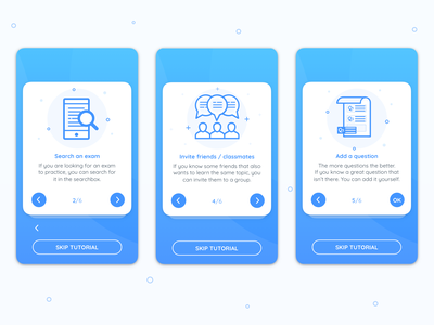 Study App Onboarding onboarding screens app study ui illustration blue design