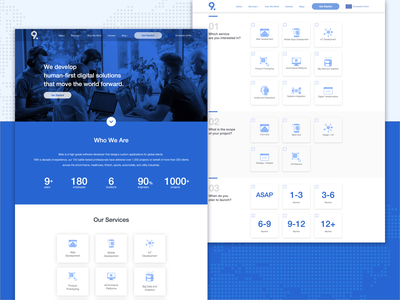9bits Websites website ux blue ui design
