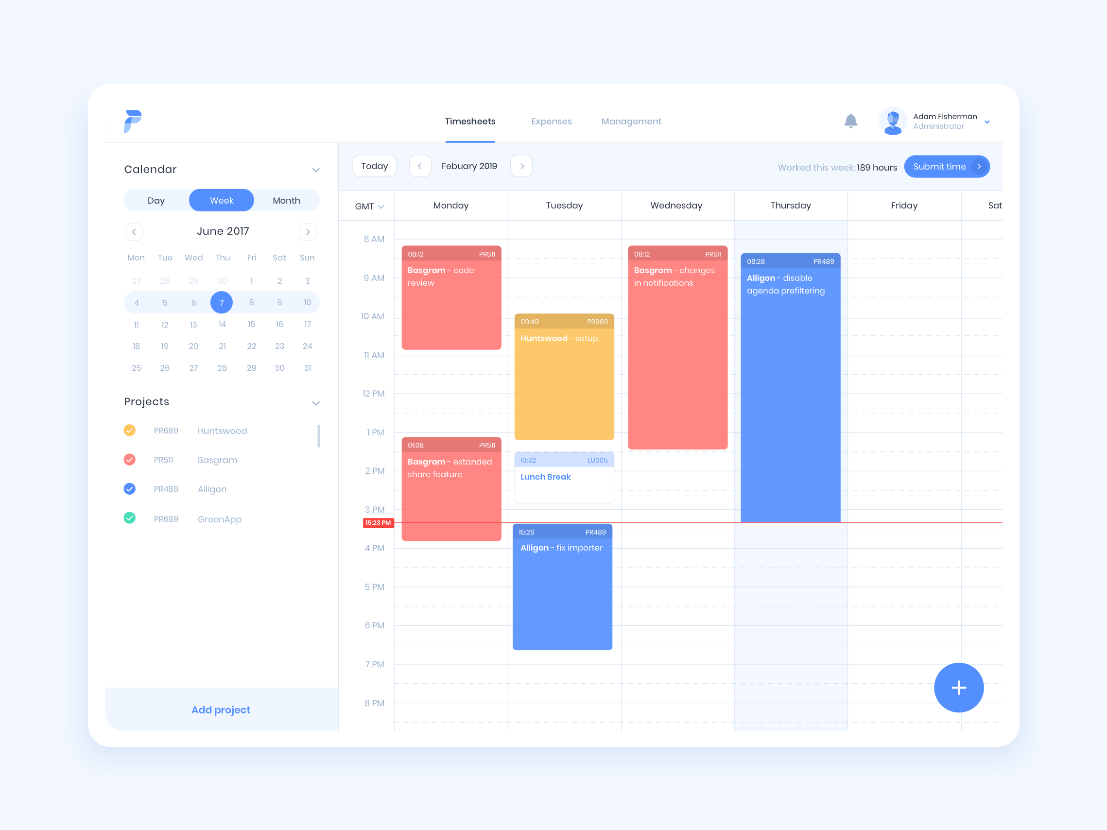 Timetracker dribbble
