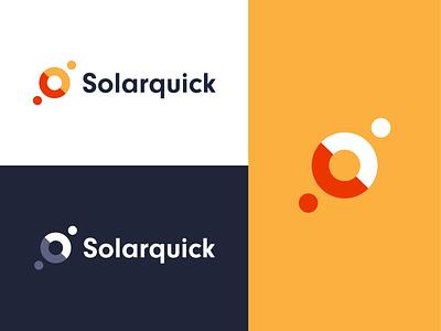 Solarquick – Logo branding identity color scheme minimal light sun logo design modern circle abstract styleguide ux ui design corporate brand logo