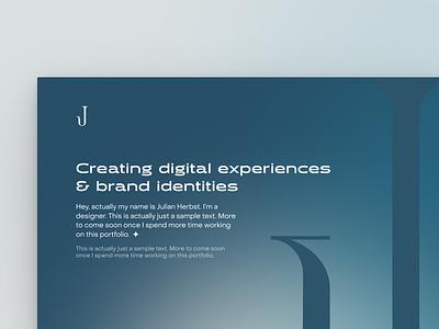 jh.vision portfolio user experience branding brand typography design modern clean minimal ui