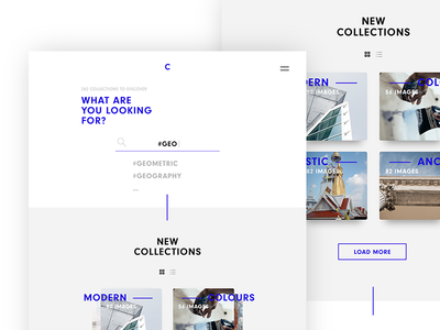 Colfy - Image Search Desktop simple sleek website flat minimalistic webdesign modern light clean minimal ui ux