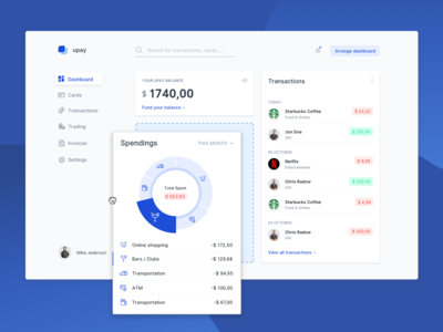 Fintech Payment Dashboard