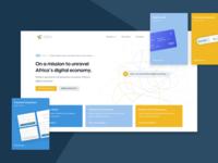 FinTech Payment Landingpage