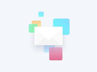 Envelope Newsletter Illustration design minimalistic illustration ux ui modern simple flat sleek clean light minimal
