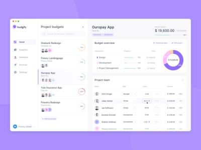 Budget Planner App – Dashboard