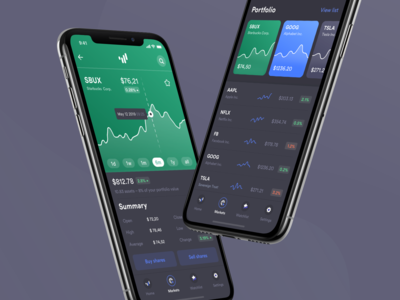 Investment App – Darkmode