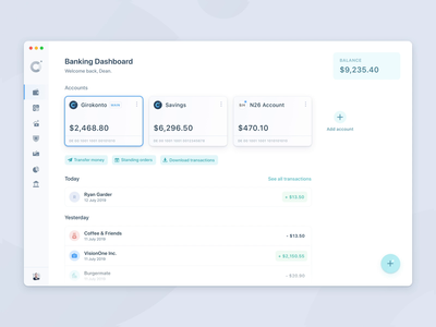 Quick Actions – Online Banking App bankingapp usability userexperience quickactions cards interface banking appdesign modern clean minimal ux light ui