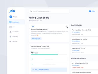Hiring & Job Ad Platform – Dashboard