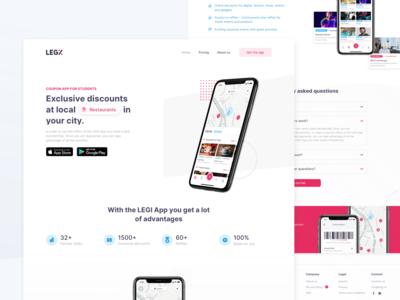Coupon App Landingpage