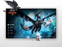 How to Train Your Dragon 3 - UI/UX Concept - Home