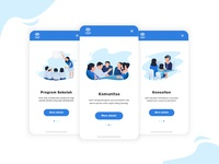 Onboarding Screens for Social Campaign Project