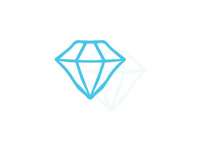 A Diamond in the Rough (Sketch) illustration vector iconography icon diamond sketch