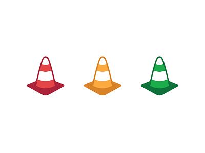 Traffic Cones ui design iconography vector illustration