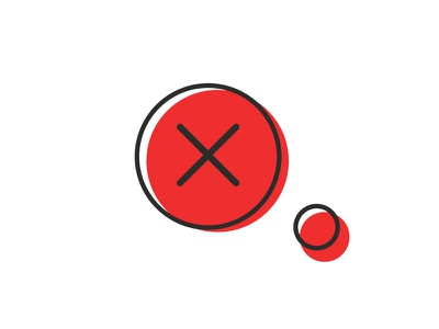 Cancel vector iconography red negative cancel