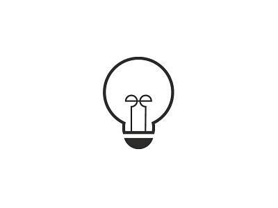 Idea gray bulb light icon vector idea light bulb