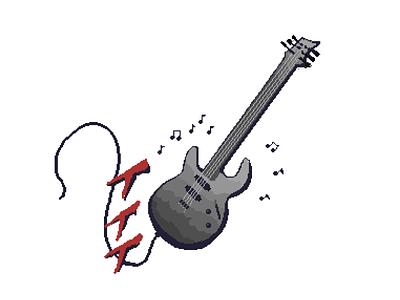 Electric Guitar aseprite music guitar pixel pixel art