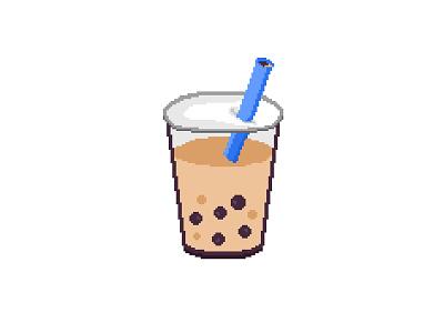 Pixel Boba illustration cute bubble tea aseprite pixel art boba
