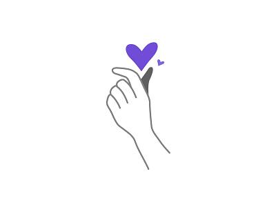 Showing Love hand like love vector illustration vector illustration korean heart heart