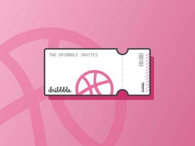 Two Dribbble Invitations best shots dribbble vector illustration giveaway invite giveaway dribbble invite invites giveaway invite invitations invitation
