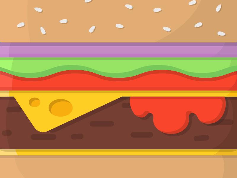 Vectorburger flat foodies food sketch illustration illustrator vector burger hamburger