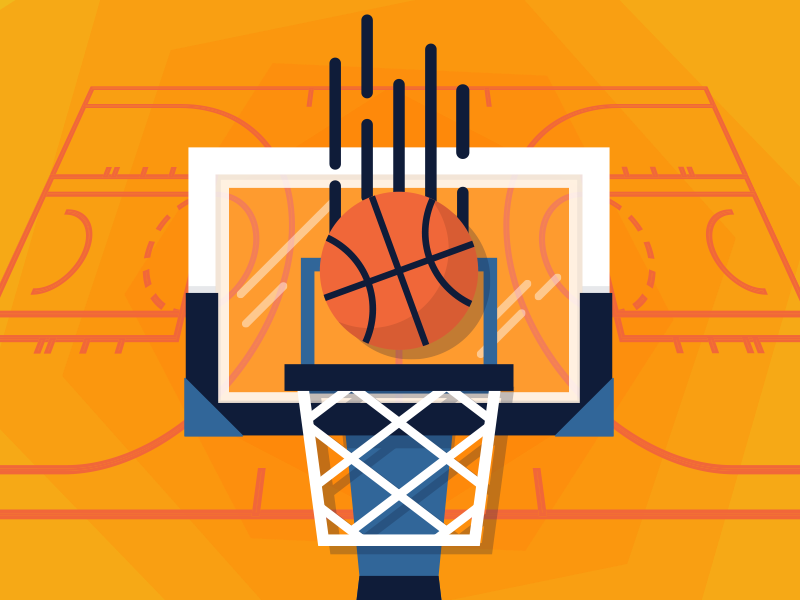 Swoosh net ball court sketch illustration illustrator vector sports basketball
