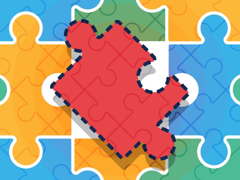 Missing Piece jigsaw sketch illustration illustrator vector piece pattern puzzle