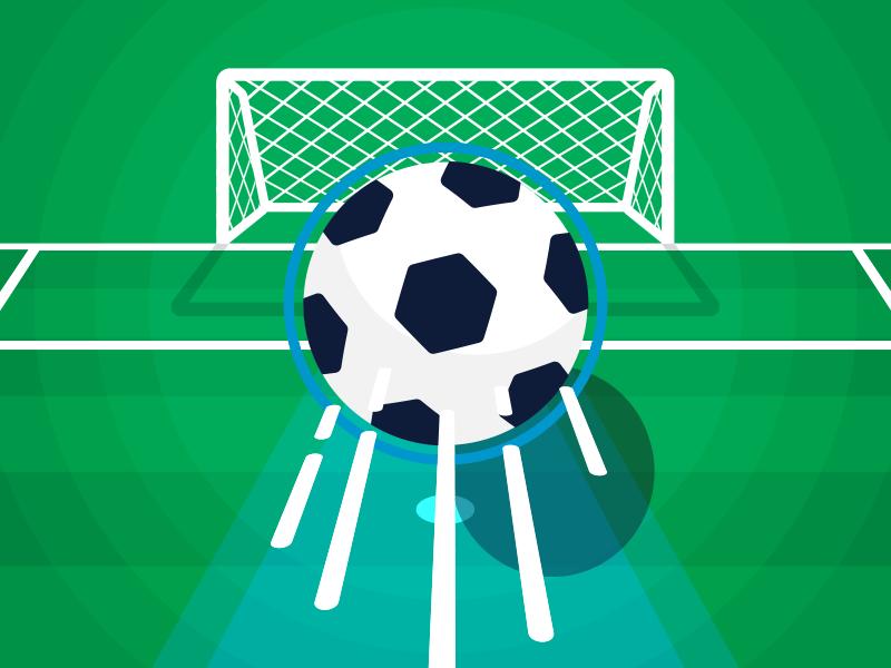 Goal illustration illustrator vector kick field sports ball goal soccer