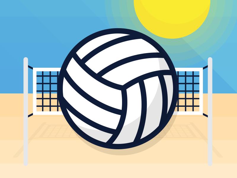 Volleyball icon illustrator illustration flat vector sunshine beach sports ball volleyball