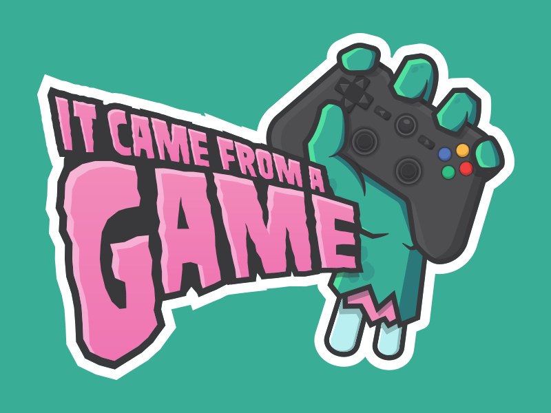 It Came From A Game Logo icon controller zombie esports twitch gaming vector illustration identity branding mark logo