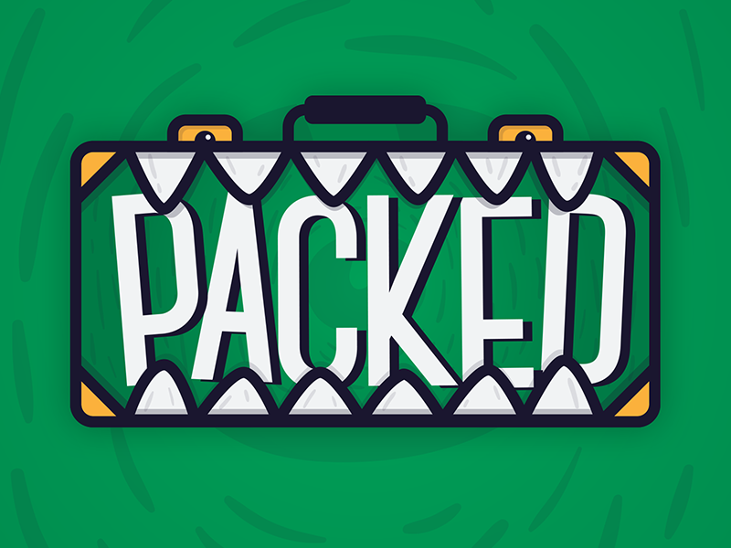 Packed Logo brand identity branding identity monster it came from a box youtube illustration vector id logo