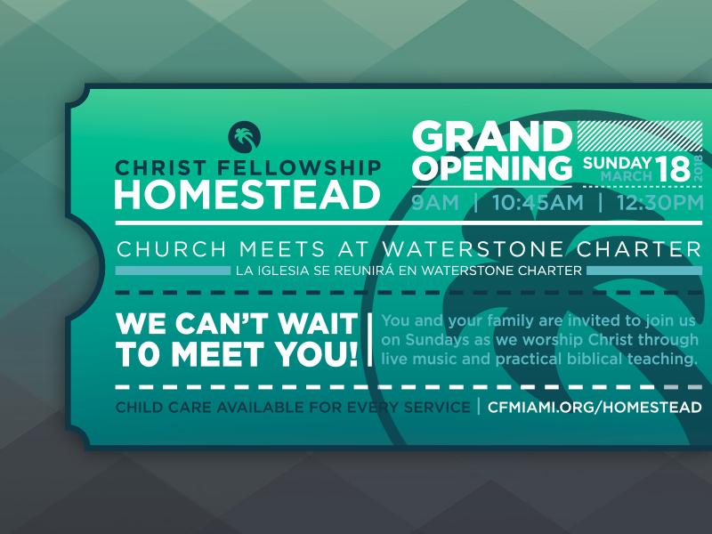Christ Fellowship Concept mark icon type church print door hanger invite illustrator vector branding logo ticket