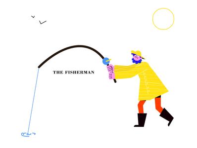 T H E   F I S H E R M A N character design sea fish fisherman concept art characterdesign 2dcharacter