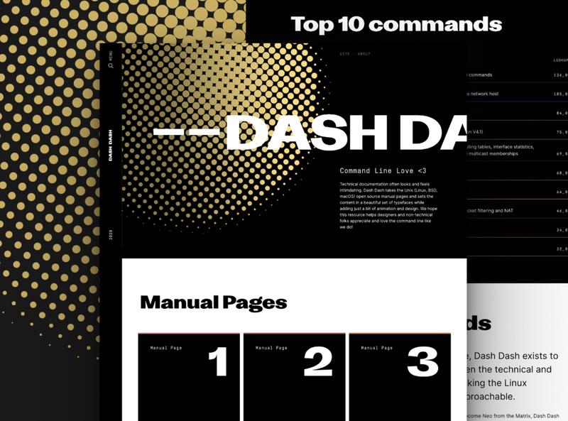 Dash Dash typography code website