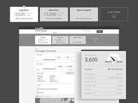 Campaign Builder Wireframes for LendingTree