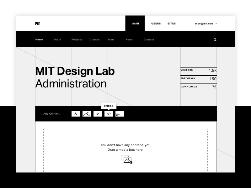 MIT Design Lab Admin Area by Moe Amaya on Dribbble