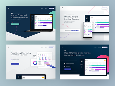 Monograph Hero Concepts landing work sans home homepage marketing page saas landing page