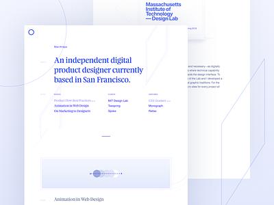 New Portfolio Website feijoa typography javascript svg parallax rellax animation portfolio